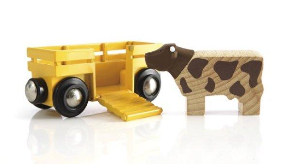 画像1: 牛とワゴン (1)