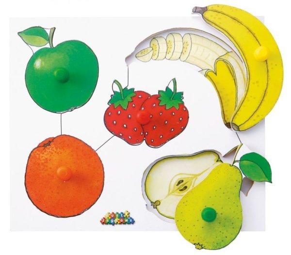 画像1: ノブ付パズル・果物 (1)
