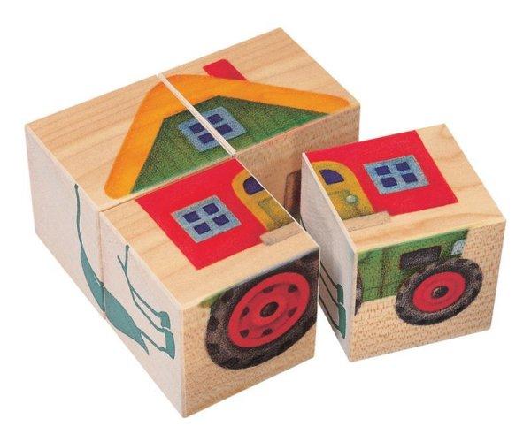 画像1: 六面体パズル・4pcs・農場 (1)